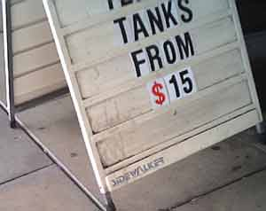 Tanks From $15